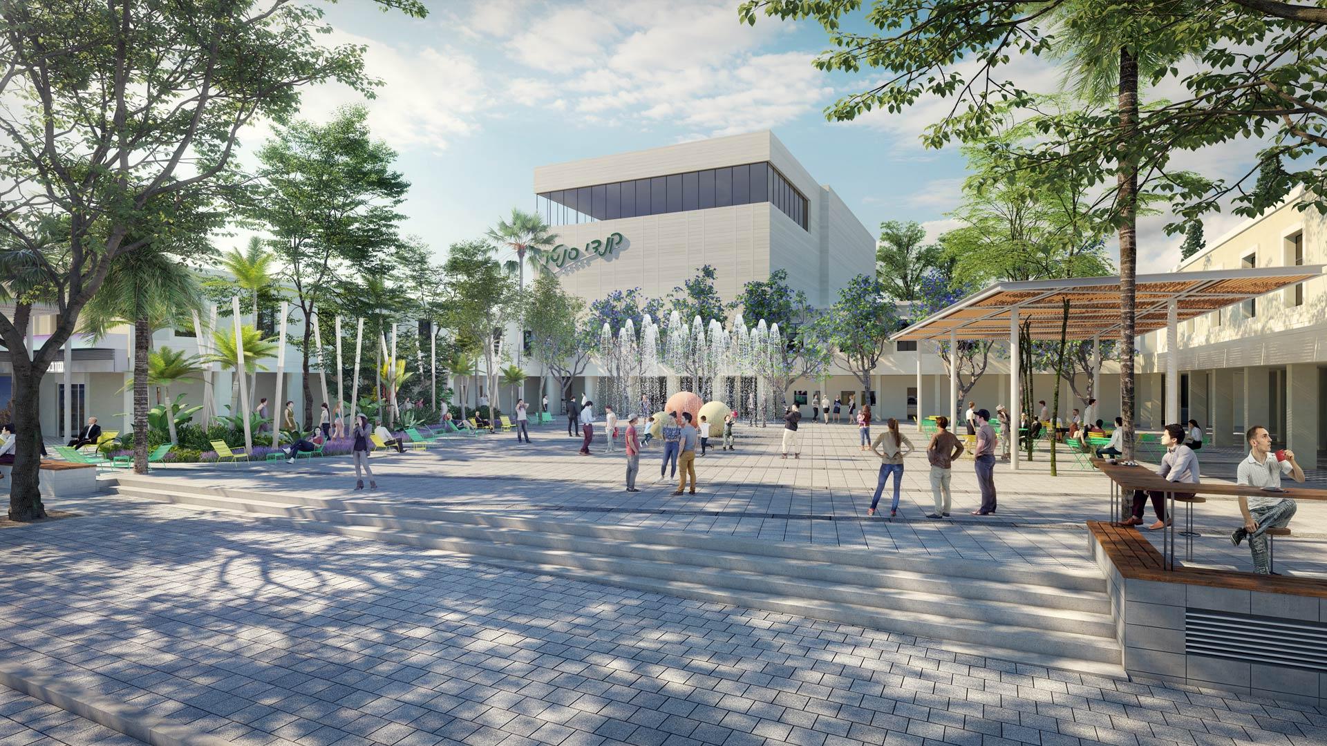 הדמיה אדריכלית לפרויקט עבור עיריית יבנה