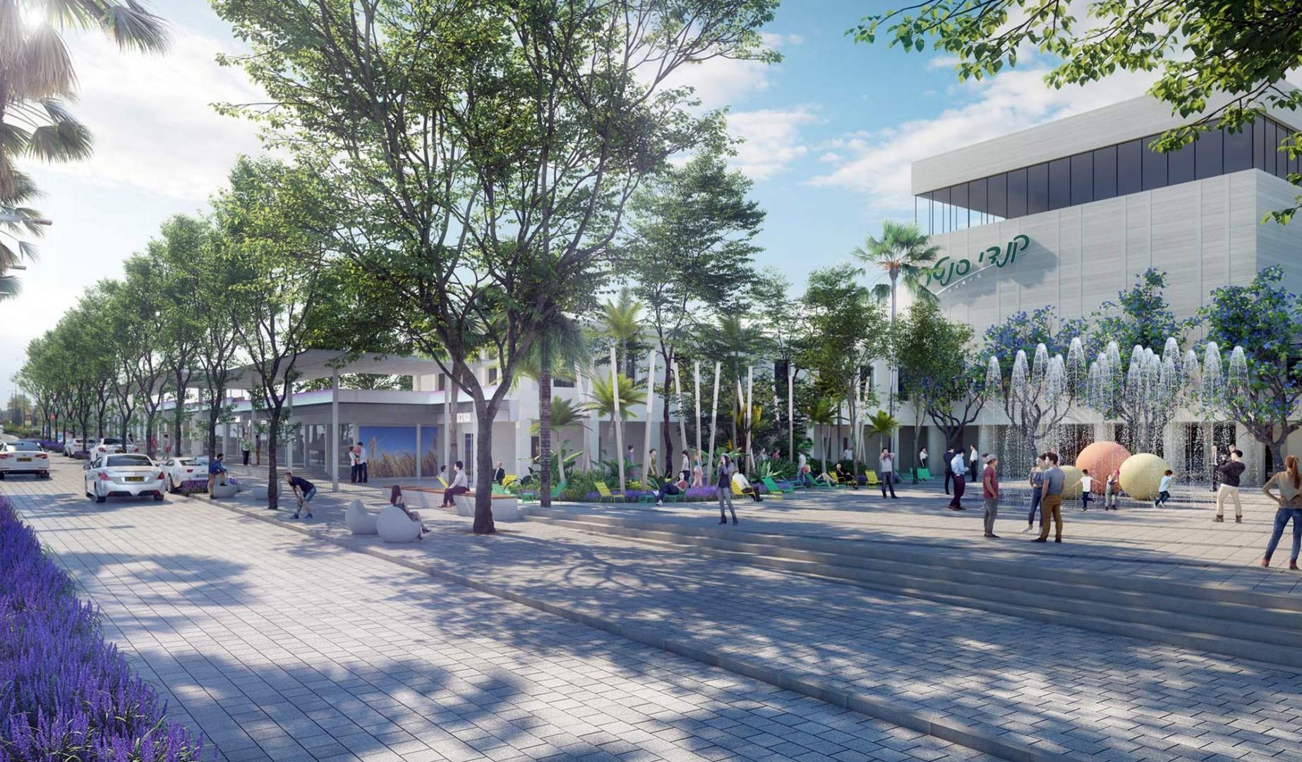 הדמיה של חברת טוטם לפרויקט עבור עיריית יבנה