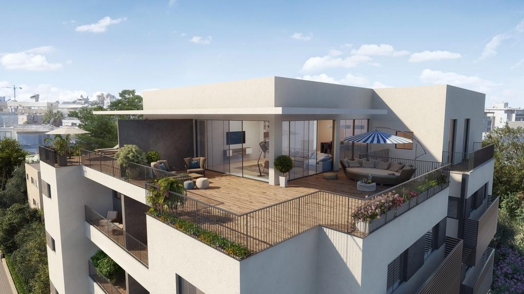 הדמיה אדריכלית לחברת אקו סיטי ברחוב מינץ תל אביב