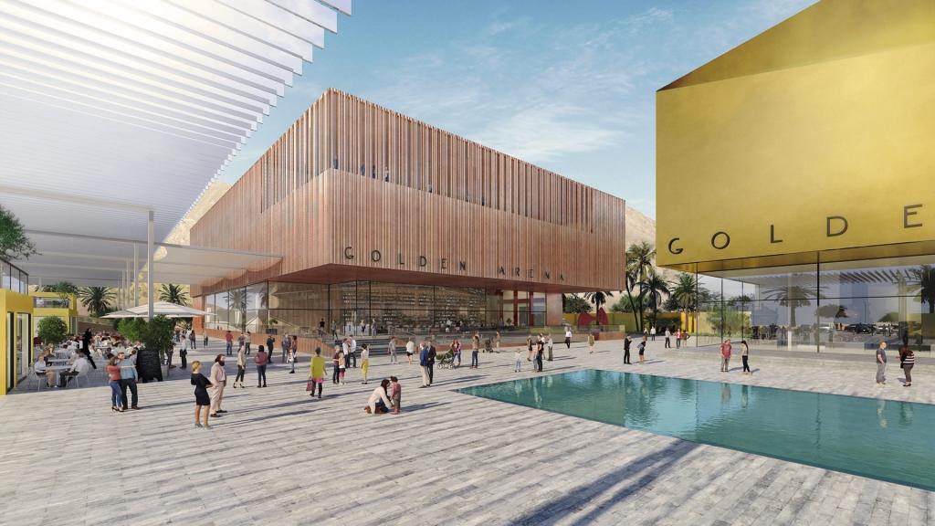 הדמיה אדריכלית למרכז אומנויות באילת