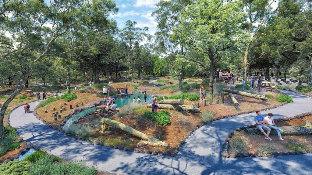 הדמיה ממוחשבת של פארק קצרין