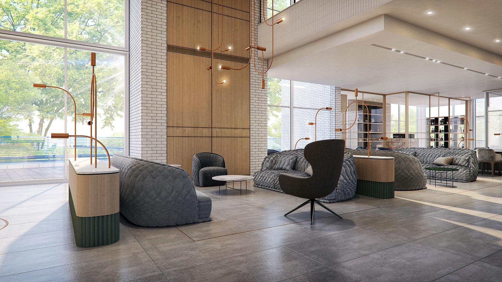 הדמיה אדריכלית של דיור מוגן