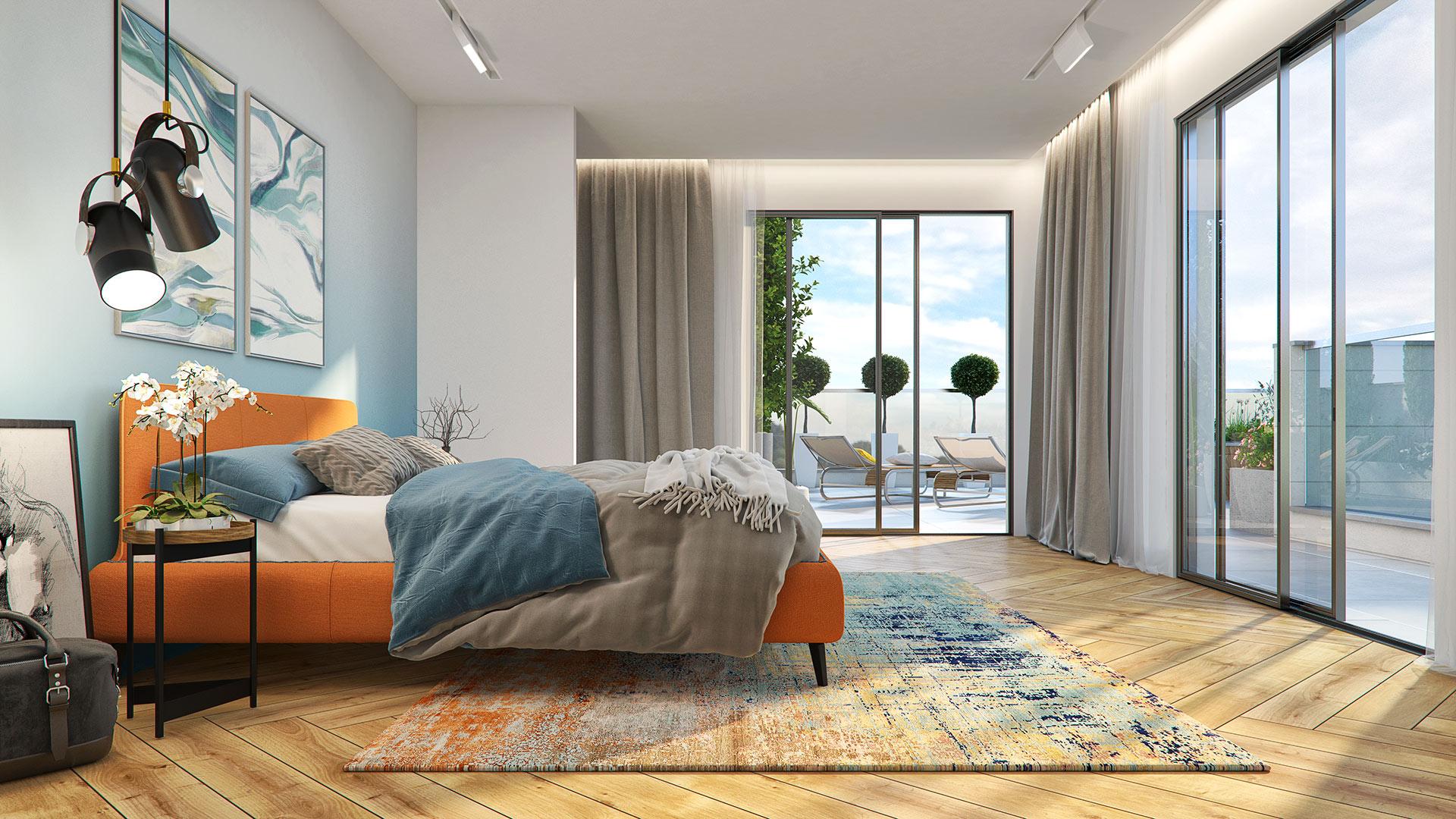 הדמיה של חדר שינה