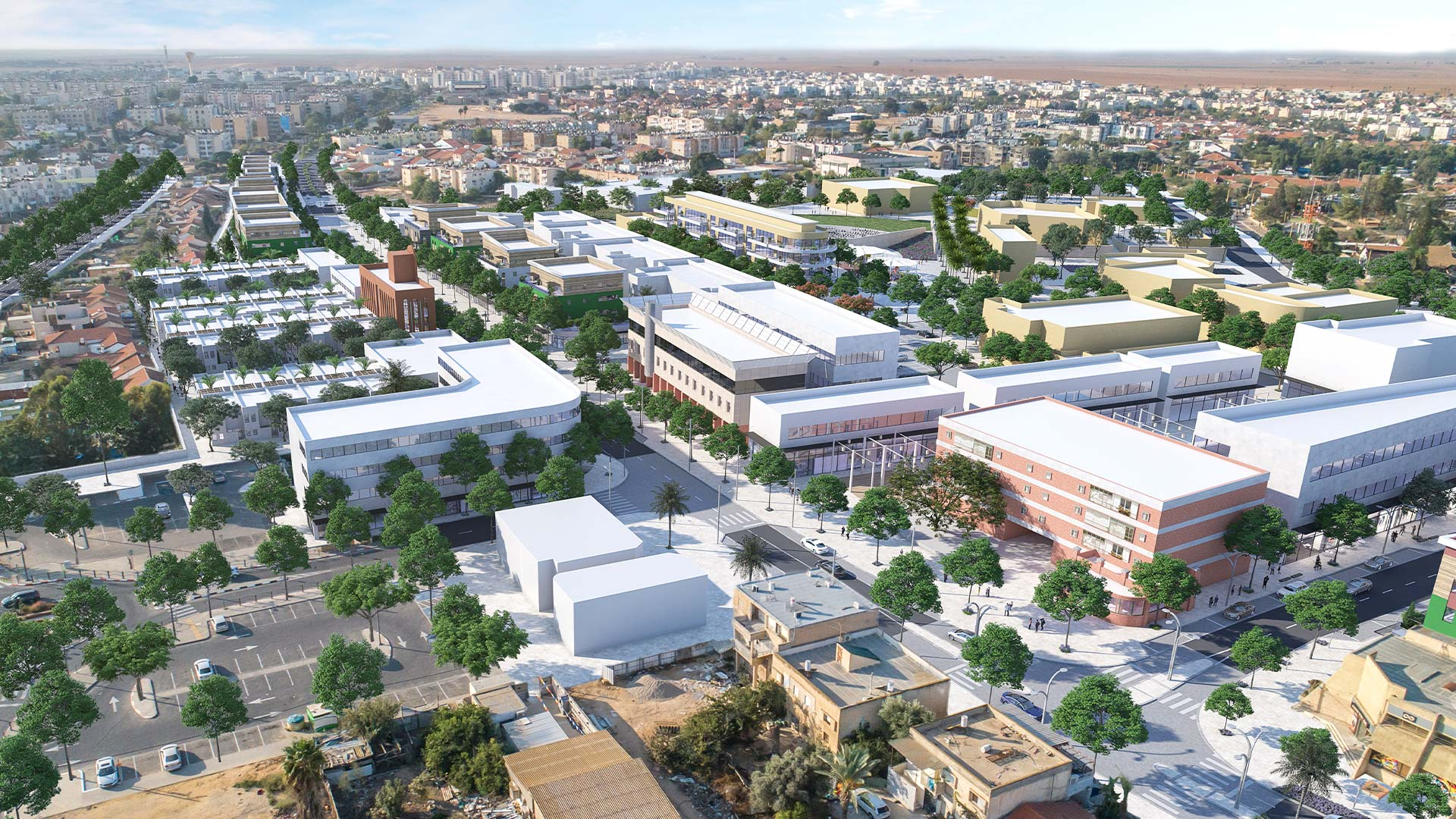 הדמיה של מרכז עיר