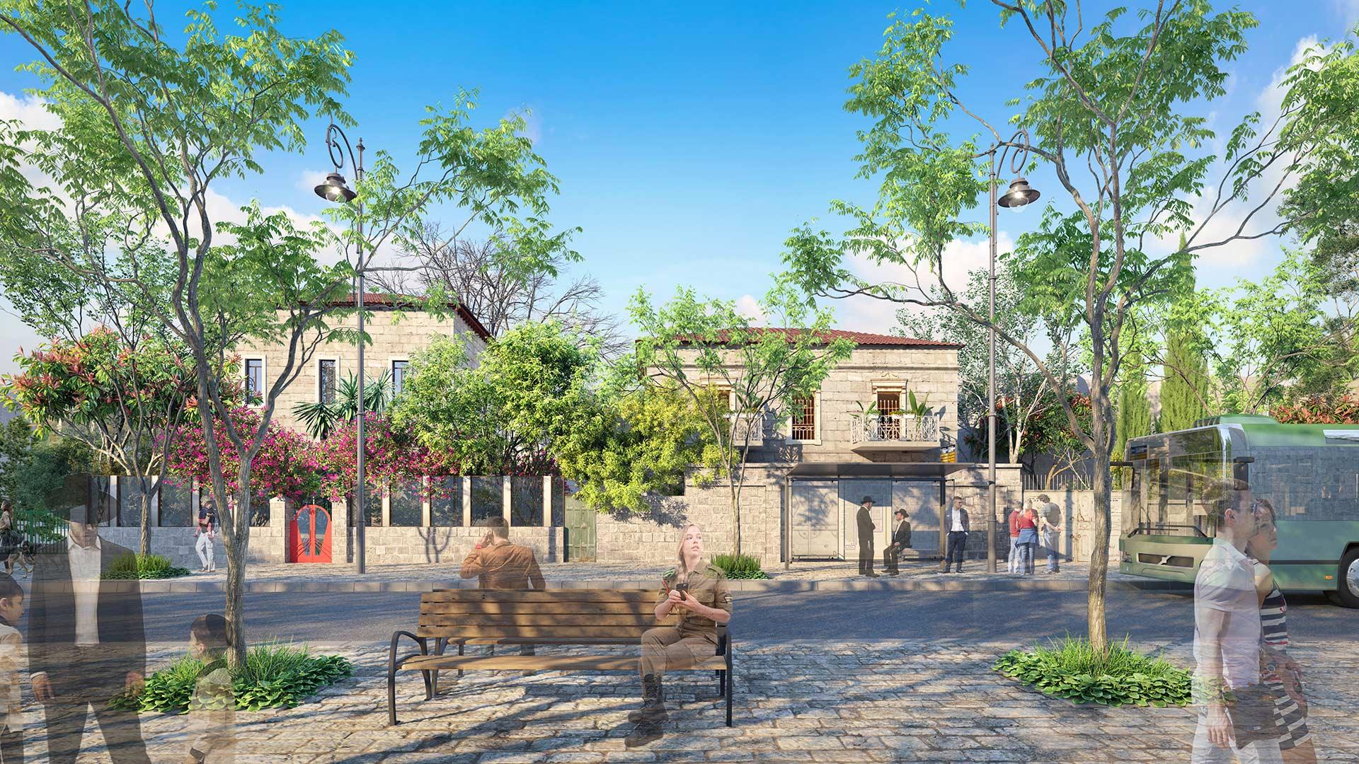 הדמיה אדריכלית של רחוב הנביאים בירושלים